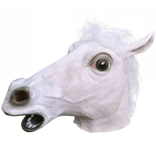 Paarden masker wit voor volwassenen