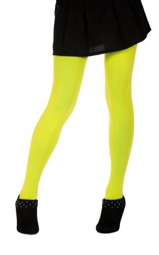 Panty neon geel 60 denier