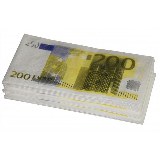 Papieren geld 200 euro servetten 10 stuks