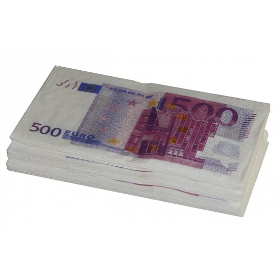 Papieren geld 500 euro servetten 10 stuks