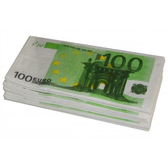 Papieren servetten 100 euro 10 stuks