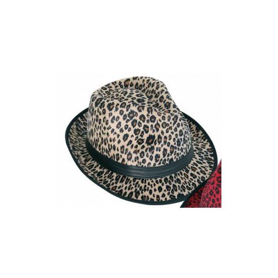 Party hoedjes met bruine panter print