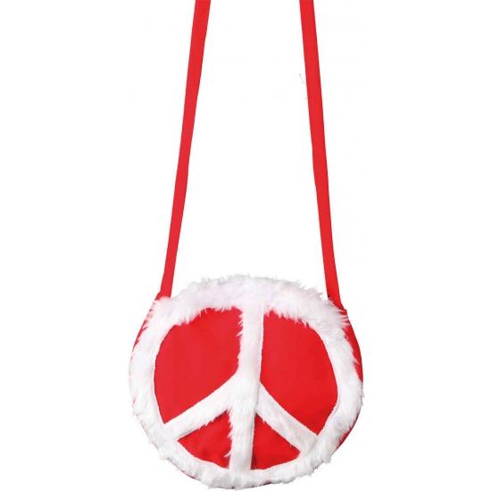 Peace tasje rood
