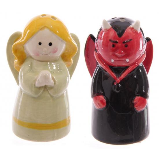 Peper en zout set engel en duivel