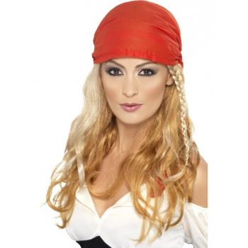 Piraten damespruik met rode bandana