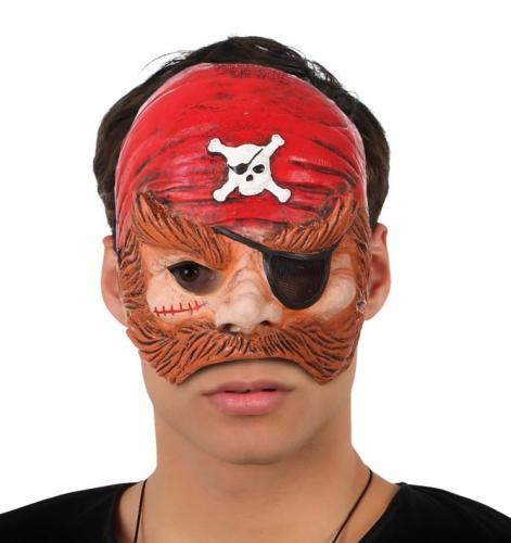 Piraten masker met bandana en ooglap