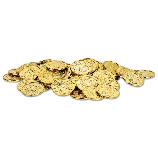 Piratengeld gouden munten 100 stuks