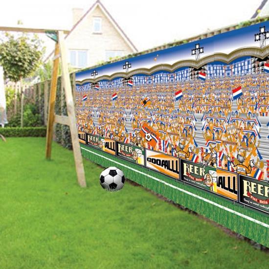 Plastic muurposter voetbal stadion