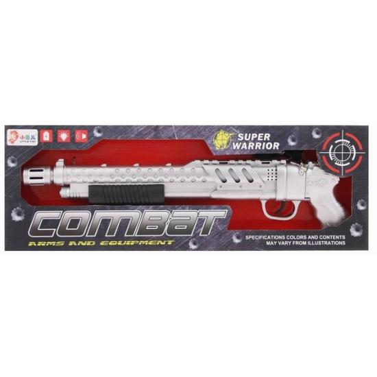 Plastic shotgun met licht en geluid
