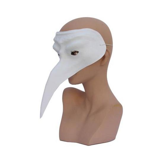 Plastic snavelmasker wit voor volwassenen