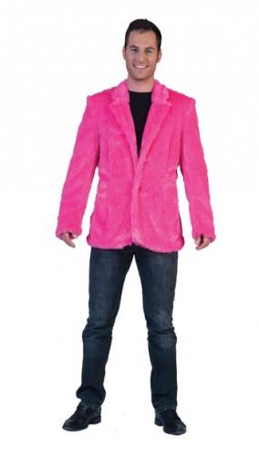 Pluche carnaval jas roze