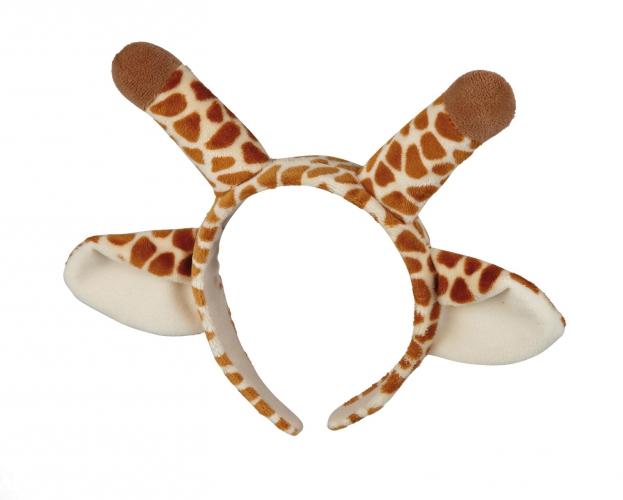 Pluche diadeem giraffe met oortjes