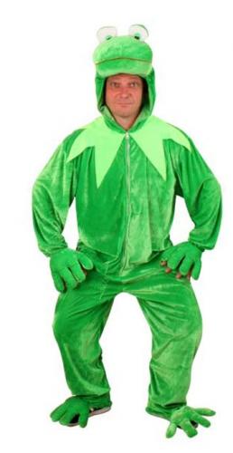 Pluche groene kikker jumpsuit