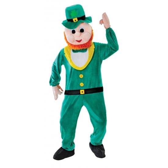Pluche mascotte kostuum dwerg st patricks day