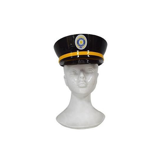 Politie pet zwart plastic volwassenen