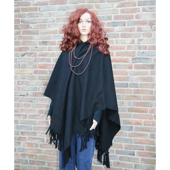 Poncho omslagdoek zwart