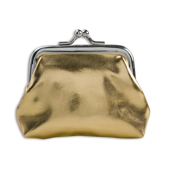 Portemonnee goud metallic