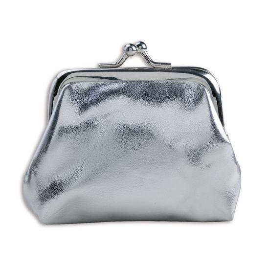 Portemonnee zilver metallic
