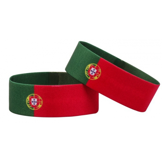 Portugal fan armbandje