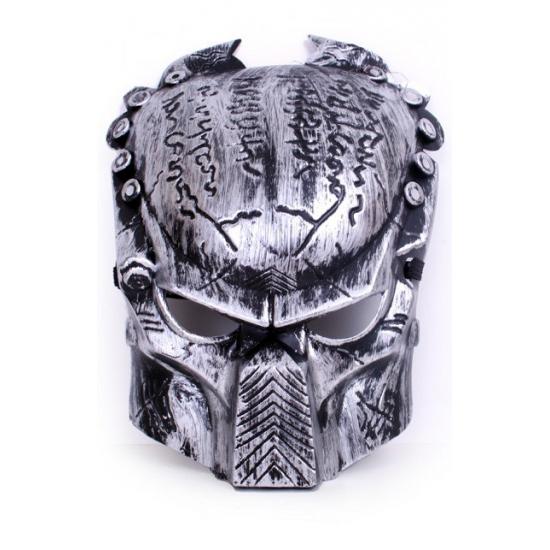 Predator masker zilver van plastic