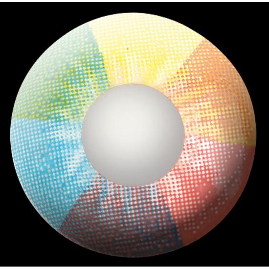 Rainbow UV feestlenzen