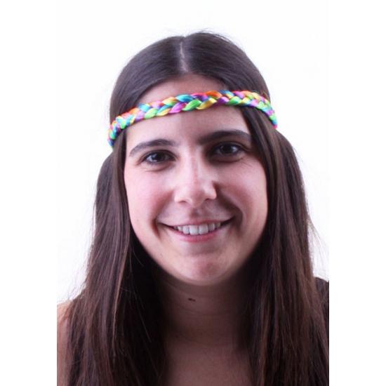 Regenboog gevlochten hoofdband