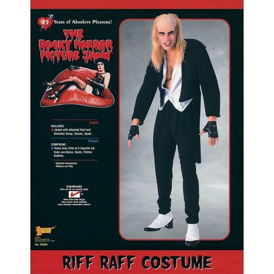 Riff Raff verkleedkleding voor heren