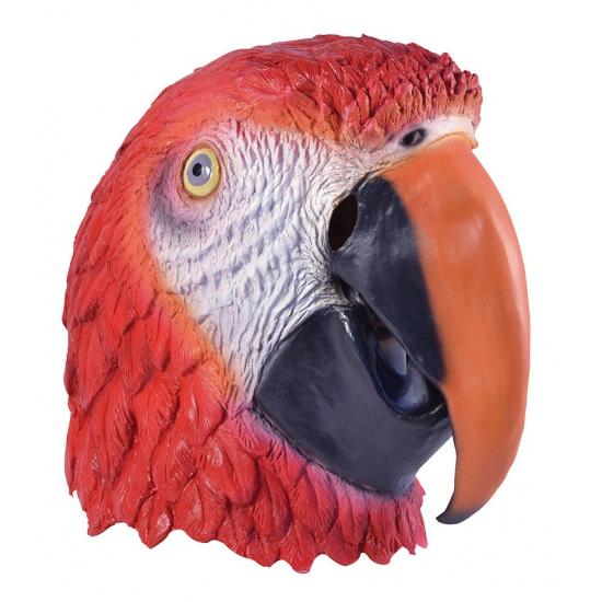 Rode Ara papegaaien kop masker