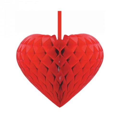 Rode decoratie harten 15 cm