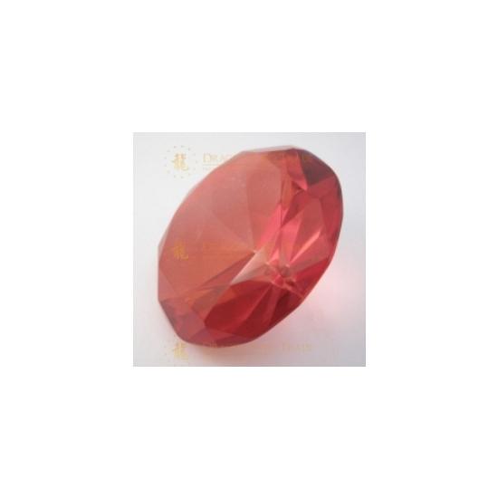 Rode diamanten van glas 8 cm per stuk
