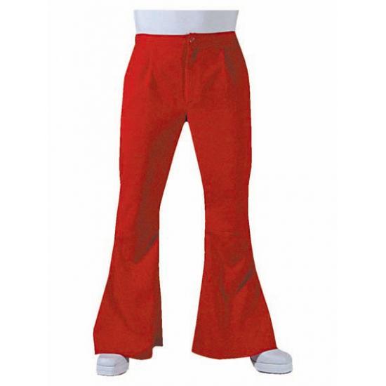 Rode disco heren broek