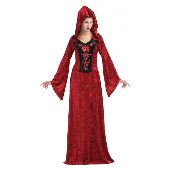 Rode fluwelen Gothic jurk