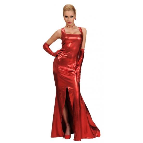 Rode gala jurk voor dames