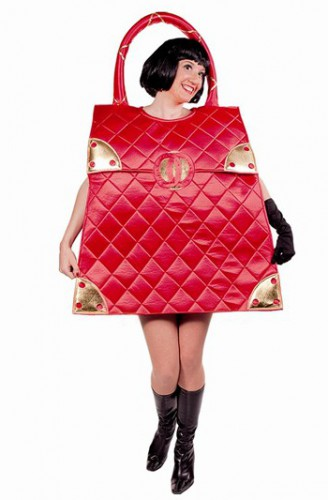 Rode glimmende handtas kostuum