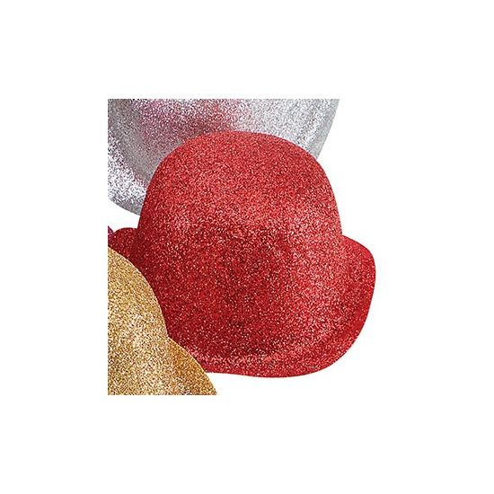 Rode glitters bolhoedjes