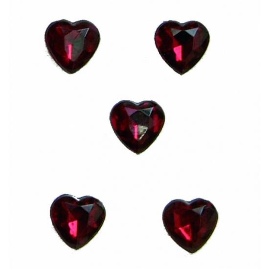 Rode hartjes diamanten 20 stuks