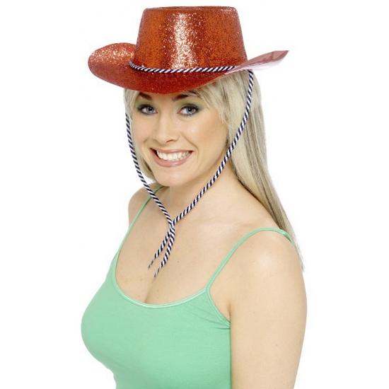 Rode hoeden met glitters