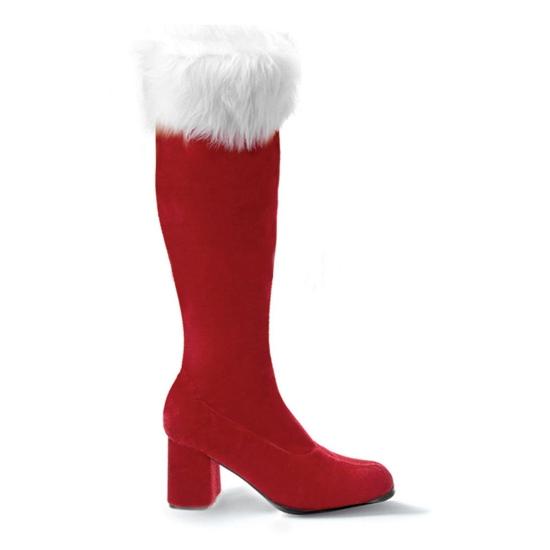 Rode kerstlaars voor dames