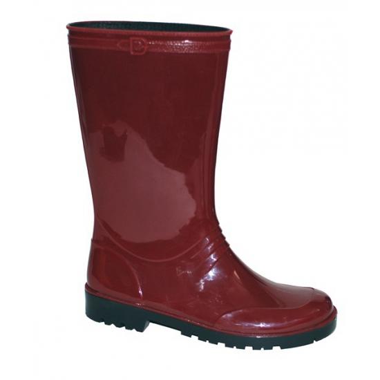 Rode pvc regenlaarzen voor dames