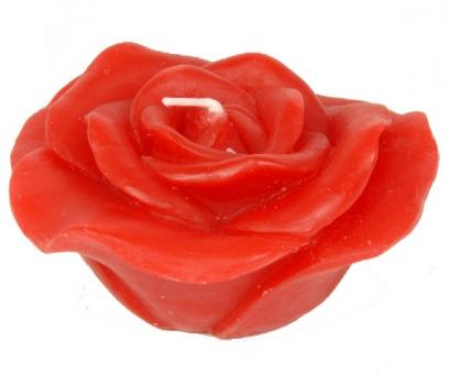 Rode roos kaarsje voor valentijn 10 cm