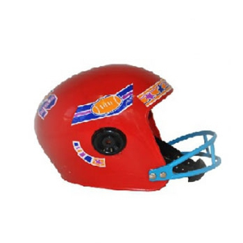 Rode rugby helm voor kids