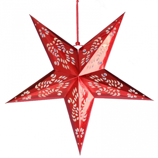 Rode ster lampionnen 60 cm