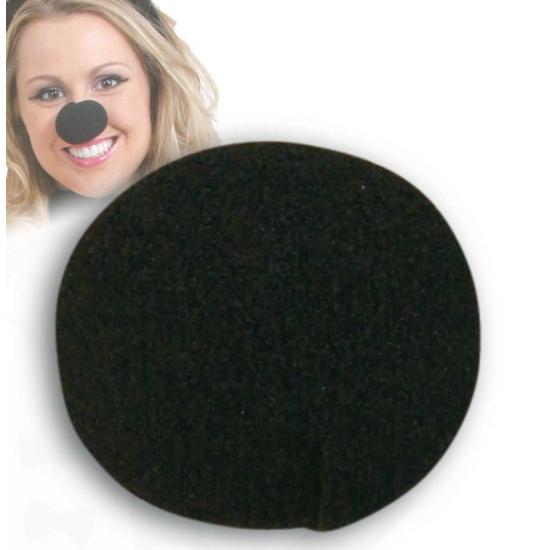 Ronde foam neus zwart