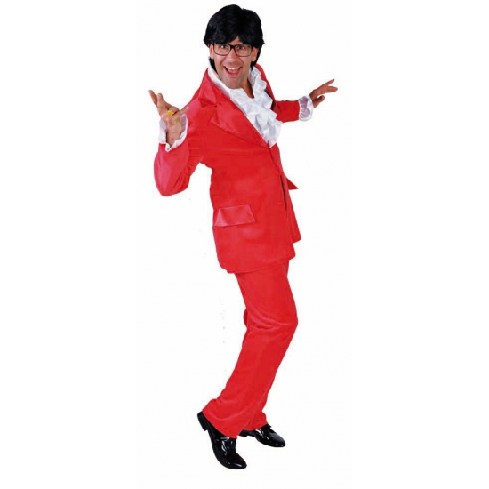 Rood heren kostuum 2 delig
