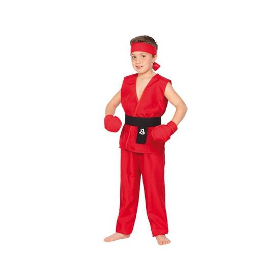 Rood Kung Fu kostuum voor kids