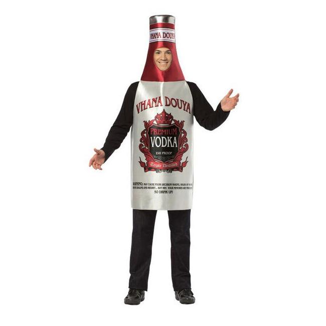 Rood met grijze wodka fles pak