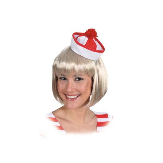 Rood met witte matrozen hoedjes
