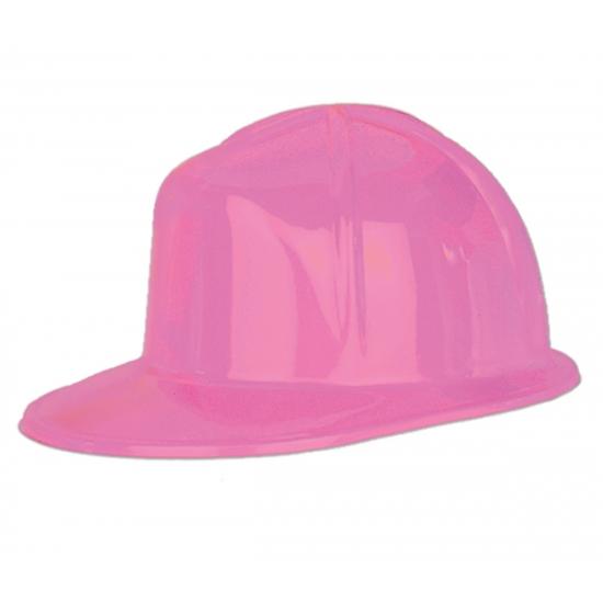 Roze bouwhelm van plastic