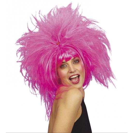 Roze dames fun feestpruiken