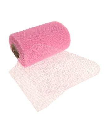Roze gaas 15 cm bij 32 meter